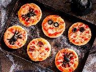 Мини пици за хелоуин